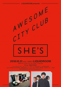 LIQUIDROOM presents Awesome City Club x SHE'S