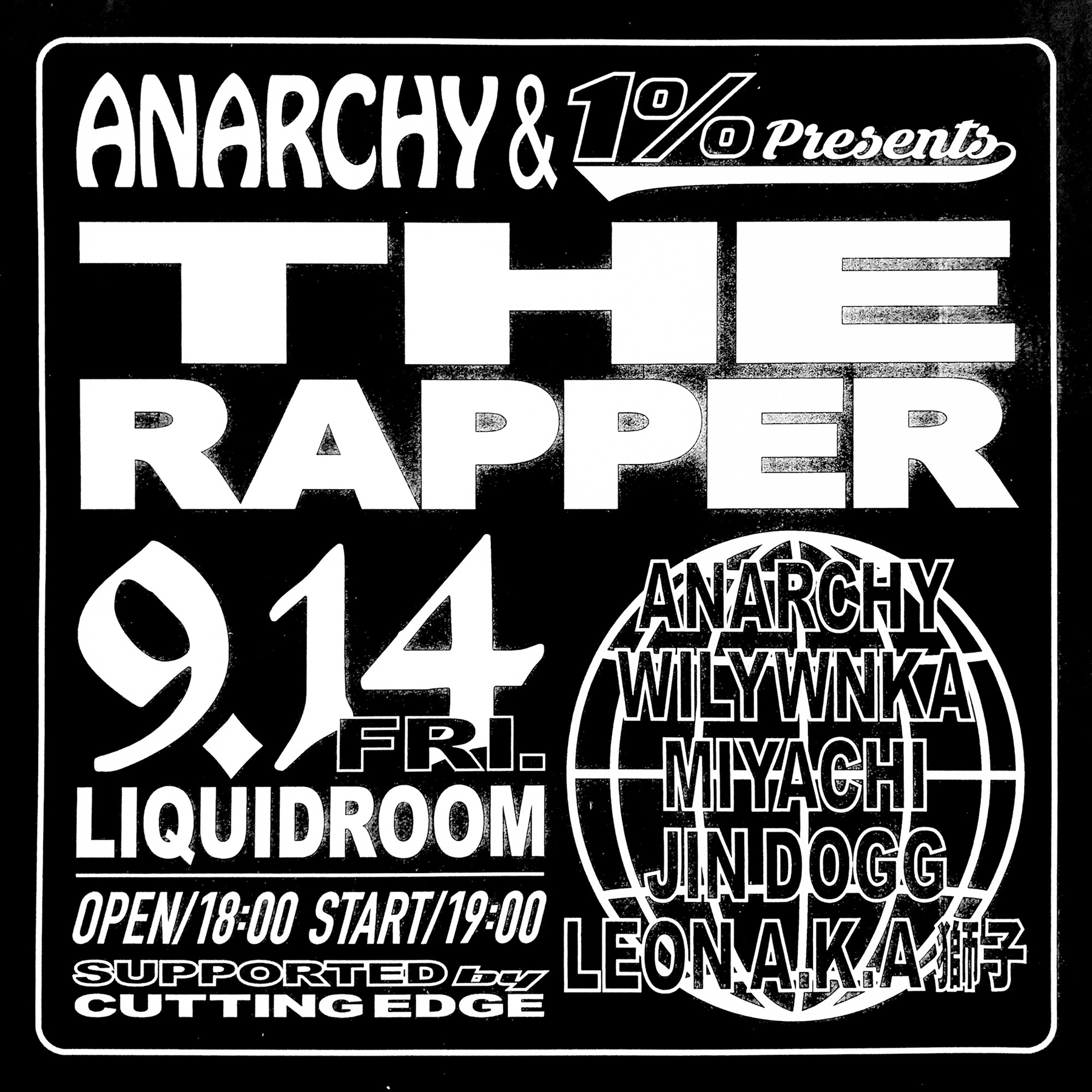 "ANARCHY & 1% presents ""THE RAPPER"""